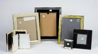 A collection of seven contemporary photograph frames (7).