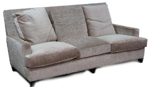 A contemporary three seat sofa,