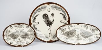 A Laura Zindel large circular dish,