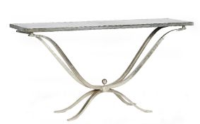 A contemporary console table,