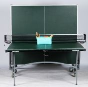 A Butterfly slim line indoor folding table tennis table.