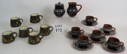 A Retro European terracotta coffee set o