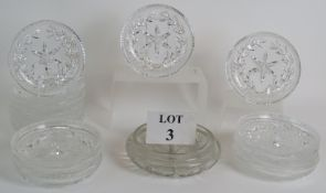 A set of 15 high quality cut crystal sha