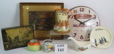 A mixed lot of collectables including a