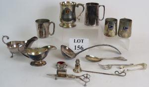 Five vintage silver plated trophy tankar