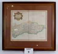 An early map of Sussex by Robert Morden,
