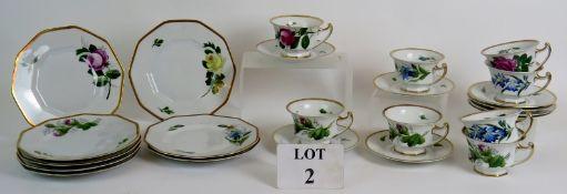 An 8 setting Rosenthal hand painted tea
