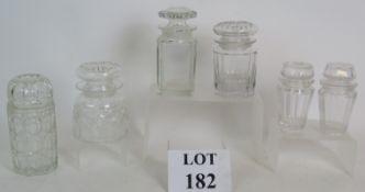 Six early 20th Century glass preserve ja