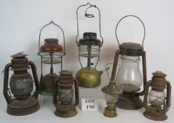 Six vintage Tilley and Hurricane lamps o