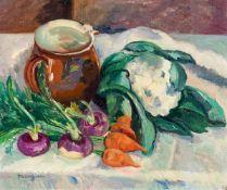 Henri Manguin1874–1949Nature morte aux légumes1912Öl auf Leinwand38,5 x 46,5 cmSammlung Arthur und