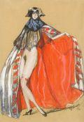 Jean Gabriel Domergue1889–1962Jeune femme costumée1921Gouache und Kohle auf Papier50 x 33