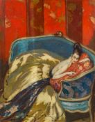 Jean Gabriel Domergue1889–1962La douce illusion1920Öl auf Karton73 x 60 cmPrivatsammlung,