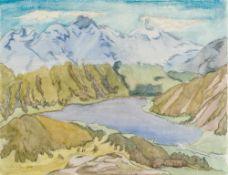 Erich Heckel1883–1970Breiter See1961Aquarell und Kohle auf Papier48 x 62 cm