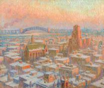 William S. Horton1865–1936Blackwell's Island Bridge (New York)1928Öl auf Leinwand92 x 108 cmHammer