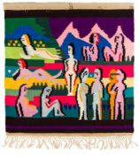 Ernst Ludwig Kirchner1880–1938Lise Gujer 1893–1967Bergwiese mit Frauen1925/26Wandbehang88,5 x 92