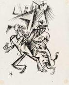 Conrad Felixmüller1897–1977Zwei Männerum 1919Tuschfeder auf Papier42 x 34 cmbedeutende