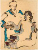 Helmut Kolle1899–1931gen. Helmut vom HügelSeemann und Frau1925Öl auf Papier auf Karton65 x 49,5