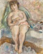 Jules Pascin1885–1930Jeune femme assise1926Öl auf Leinwand80,5 x 65 cmAlfred-Julien Loewer, La
