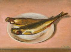 Alfred Pellan1906–1988Nature morte aux poissons1931Öl auf Holz27,5 x 37 cm