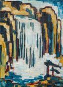 Walter Dexel1890–1973Wasserfall1913Öl auf Karton39,4 x 29,9 cmWalter Dexel, Hannover, Kestner-