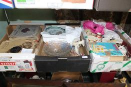 TWO BOXES CONTAINING A SELECTION OF USEFUL DOMESTIC & COLLECTABLE ITEMS