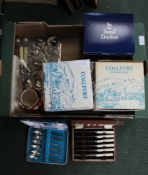 A SELECTION OF BOXED COLLECTOR'S PORCELAIN together with a small selection of table cruet, and