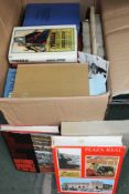 A BOX CONTAINING A SELECTION OF BOOKS VARIOUS ON SPAIN AND BULL FIGHTING