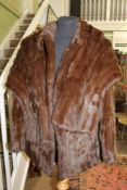 A LADY'S MINK SHOULDER WRAP together with a short jacket, one bearing the label 'Harrison's of
