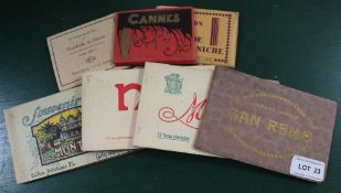 A SELECTION OF PACKAGED POSTCARDS the majority from the French Riviera