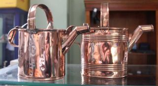 A 19TH CENTURY COPPER WATER JUG initialled for the Royal Mail Steam packet, together with an