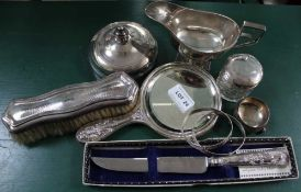A SELECTION OF HALLMARKED SILVER ITEMS VARIOUS