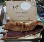 A ROWES OF BOND ST. BOX CONTAINING A FUR STOLE
