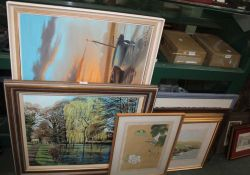 A GOOD SELECTION OF DECORATIVE PICTURES & PRINTS to include numerous original artworks