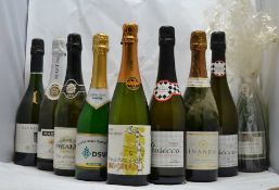 A SELECTION OF SPARKLING WINES; Isla Negra Brut Chilean Sparkling, 1 bottle Prosecco Treviso, 2