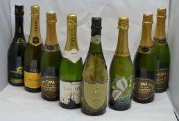 A SELECTION OF SPARKLING WINES; Gratien & Meyer Saumur Brut, 3 bottles Saumur Brut Methode