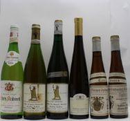A SELECTION OF GERMAN WINES; Niersteiner Olberg Eiswein 1985 Schuch, 2 x half bottles Graacher