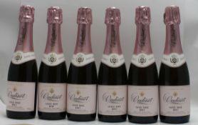 OUDINOT Rose champagne, 6 half bottles