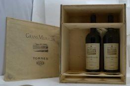 TORRES GRANS MURALLES 2004 Conca de Barbera, 2 bottles in o.w.c.