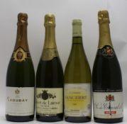 SANCERRE 1997 Domaine de la Voltonnerie, Pinson, 1 bottle SAUMUR NV sparkling, Robert de Lacour, 1