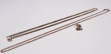 """A yellow gold marked 9k,chain, approx. length 16"""", approx. weight 2gms, a yellow metal link chain,"""