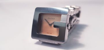 A Gucci Lady's bracelet watch IMPORTANT: Online viewing and bidding only. No in person