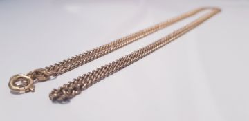 """A yellow gold marked 375 flat curb link necklace, approx. length 26"""" approx. weight 12.7gms.."""