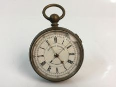 A Swiss made silver pocket watch, marked to inner case 'International Exhibition Prize Medals'.