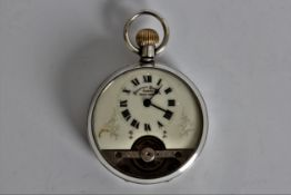 A Hebdomas Swiss made 8 day silver cased pocket watch. Online viewing and bidding only. No in person