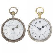 PAIR OF SILVER REPEATER WATCHES SIGNED ESQUIVILLON & DECHOUDENS AND DUCHÉNE, CIRCA 1800