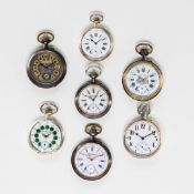LOT OF 7 OVERSIZED POCKET WATCHES