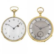 PAIR OF QUARTER REPEATER WATCH, EARLY XIX CENTURY