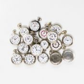 LOT OF 18 POCKET WATCHES