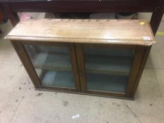 Oak wall hanging display cabinet