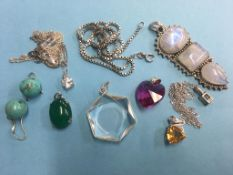 A quantity of '925' mounted jewellery